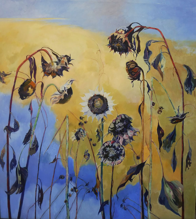 Sunflowers with Yellow Sky